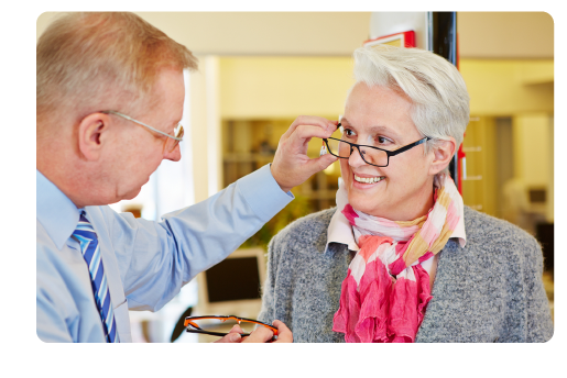 Frequent changes in eyeglass or contact lens prescription